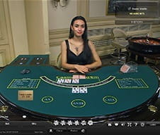 A live dealer at 21Nova casino.