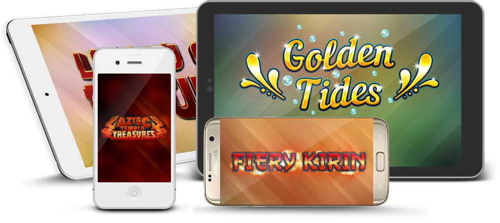 2 by 2 Gaming slot logos on mobile devices.