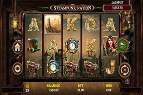 Play Steampunk Nation with the 777 mobile app