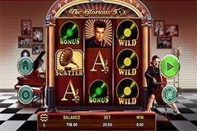 The Glorious 50s slot on the 777 Casino mobile app