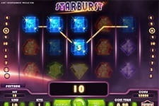 Preview of the Starburst slot at 777 Casino
