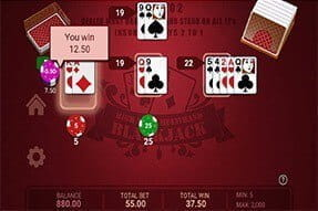 High Limit Multihand Blackjack on the 777 app