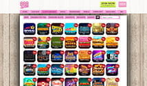 The collection of slots and instant games at 888Ladies
