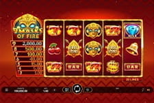 9 Masks of Fire by MicroGaming in-game play view