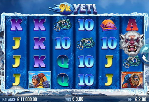 The 9k Yeti slot game from 4ThePlayer.