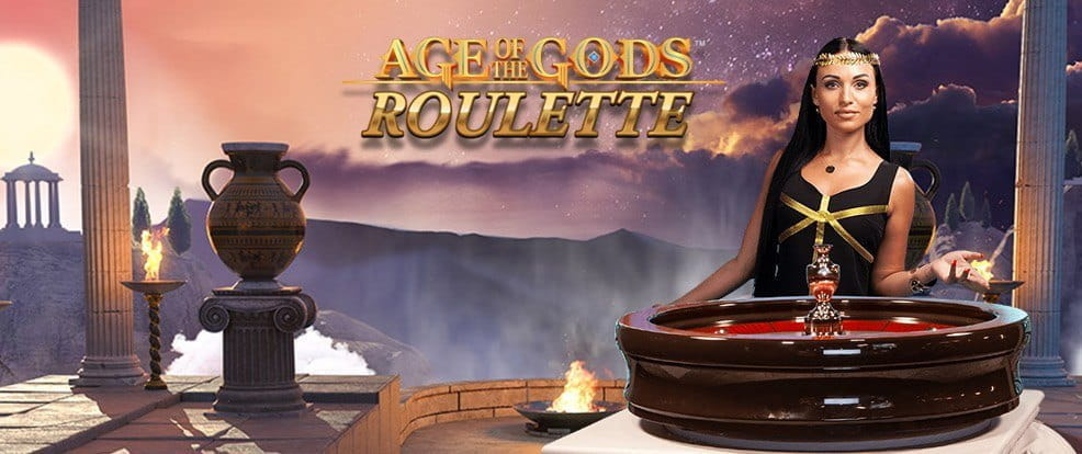 The Grecian aesthetic of Playtech's Age of the Gods Roulette.