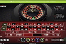 American Roulette in-game play view