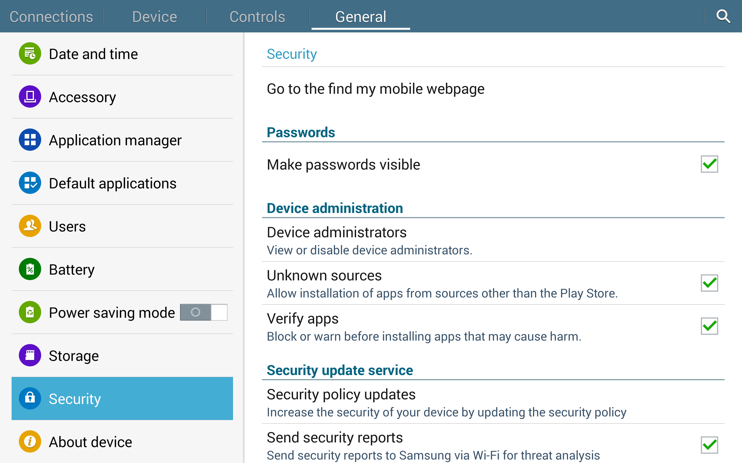 For security reasons, disable this option after the app has been installed.