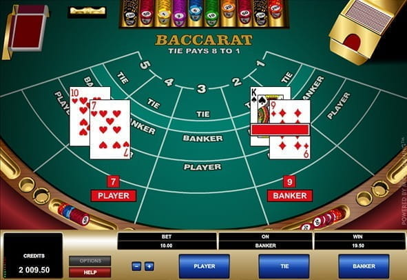 Preview image of the game Baccarat from Microgaming.