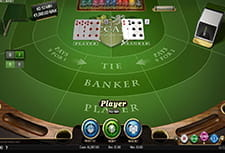 Baccarat Pro in-game play view