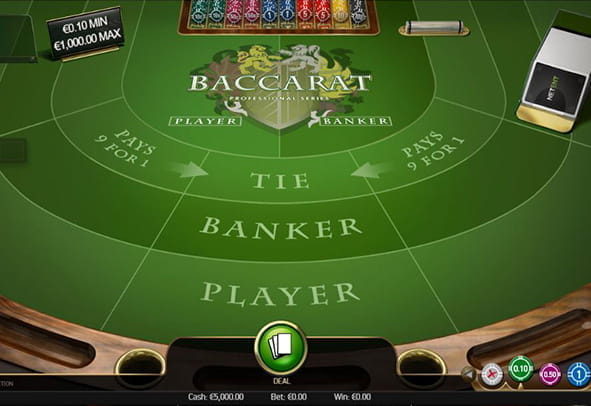 A demo game of Baccarat Professional Series from NetEnt.
