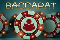 The word 'Baccarat' and casino chips.