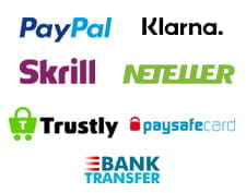 Payment methods for Barbados Casino including PayPal, Klarna, Neteller and paysafecard.
