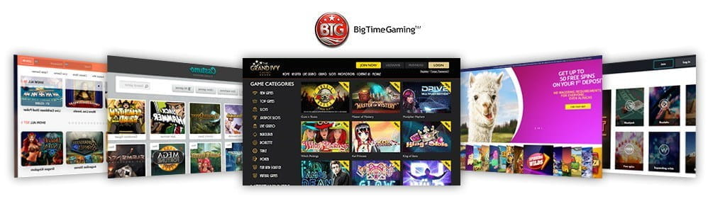 Image showcasing the top 5 Big Time Gaming casinos