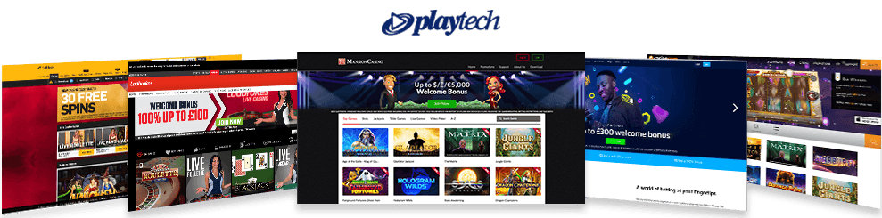An image showcasing the top 5 Playtech casinos