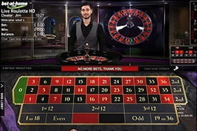 A Pro Roulette live game in action.