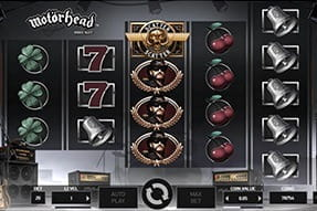 In-game image of Motörhead slot mobile game.