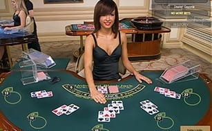 Unlimited Blackjack with live dealers at Betfair casino.