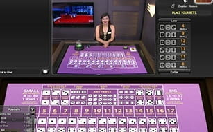 Sic Bo at Betfair live casino.