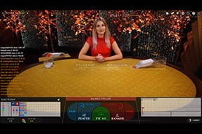 A game of Live Baccarat at Betsafe casino.