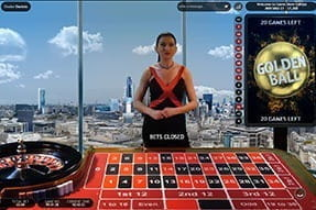 A unique Golden Ball game of roulette.