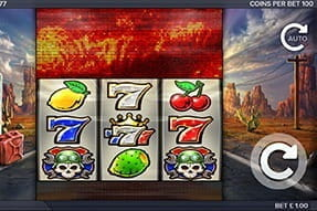 Image of the Route 66 slot on a mobile device.