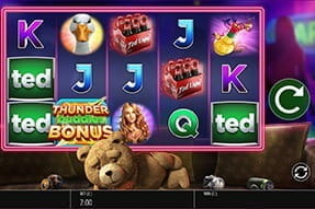 Image of mobile version of the Ted slot.