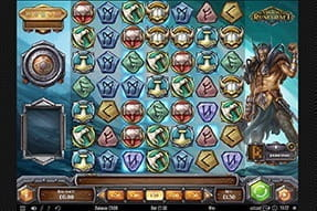 In-game image of the Viking Runecraft slot game.