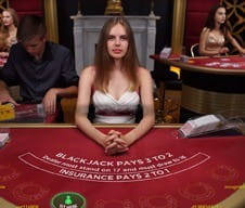 Image of a live dealer at BetVictor casino.