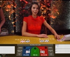 In-game action from BetVictor Baccarat game.