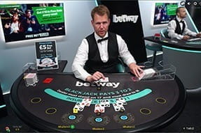 Live Blackjack from Evoltion Gaming at Betway Casino