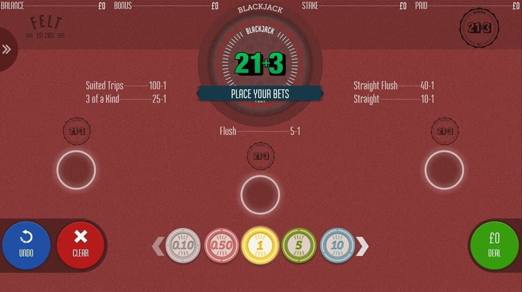 casino game 21+3