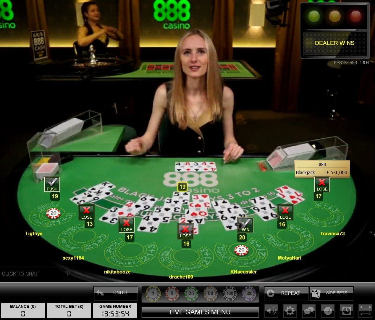 888 casino table limits