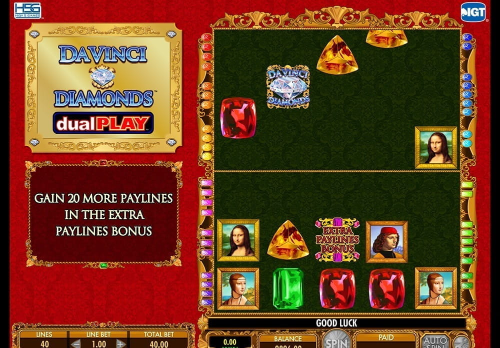 Double Da Vinci Diamonds Slots - Play Free Casino Slot Games