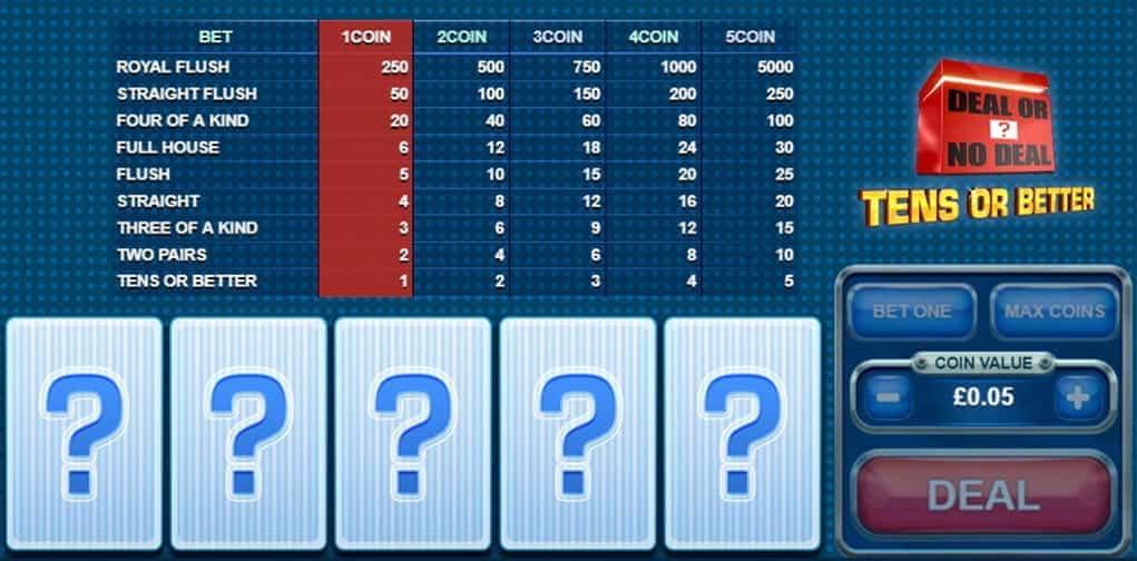 Spiele Tens Or Better Video Poker - Video Slots Online