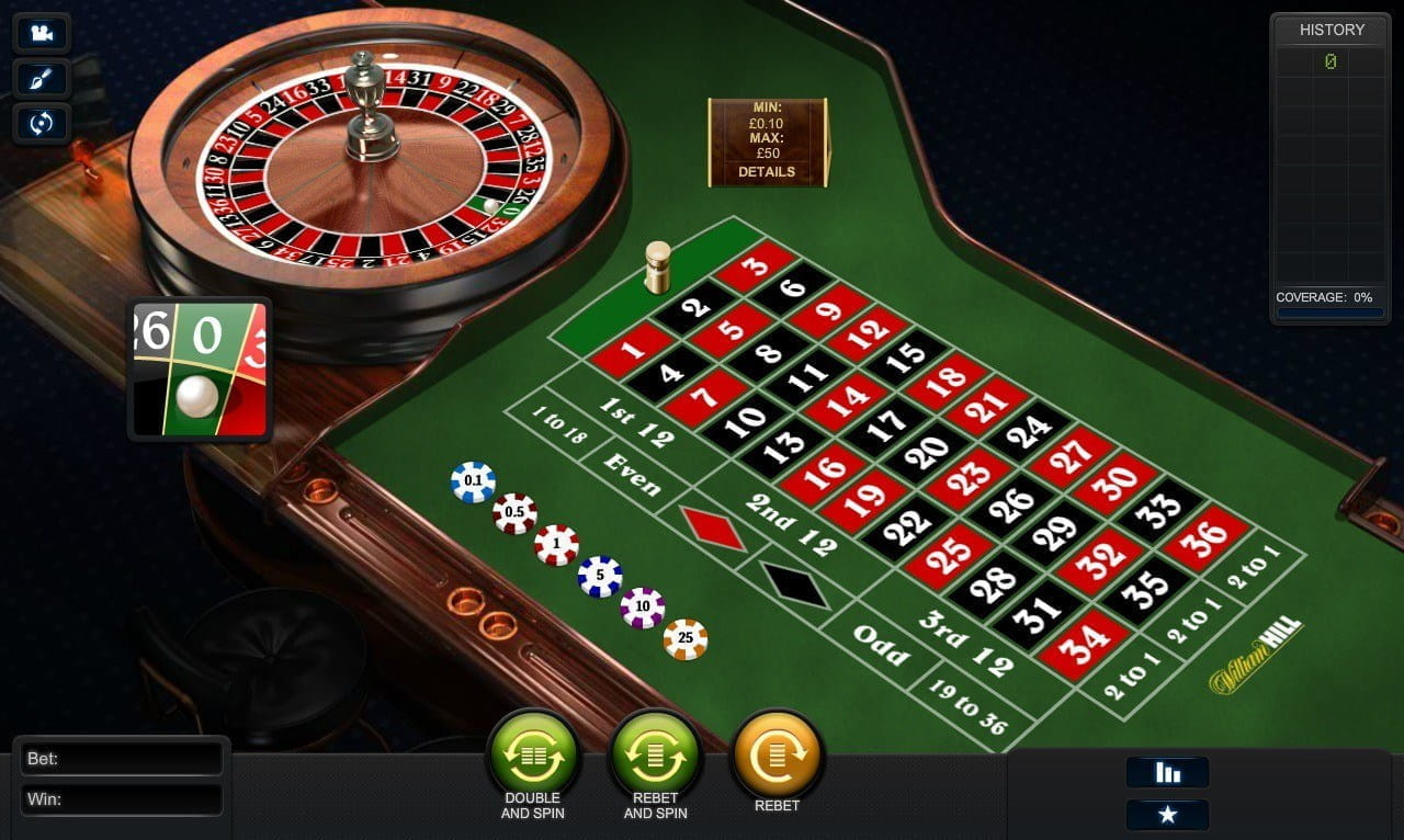William hill free play roulette roulette pour velo 20 pouces