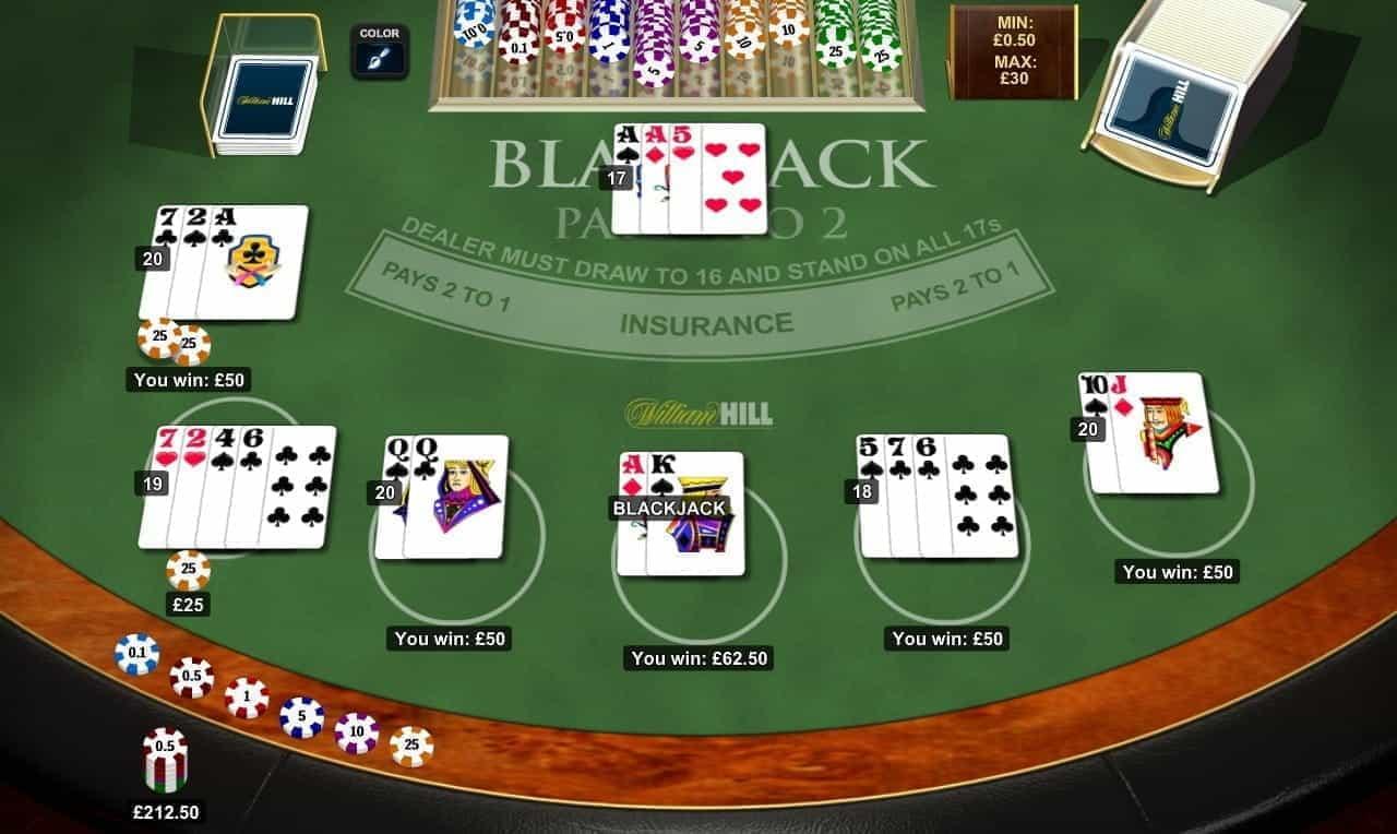 William hill blackjack