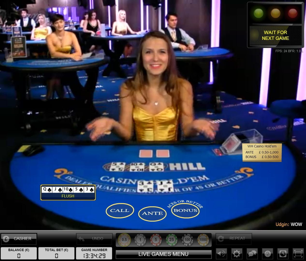 vegas william hill live casino