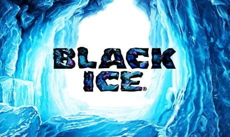 Image showing the Black Ice slot game logo.