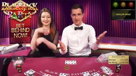 Blackjack Party is Played with a Dealer and Co-Host for Added Entertainment