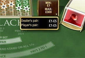 There are various Side Bets available in Real Money Blackjack