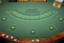 An in-game view of the Classic Blackjack game from Microgaming.