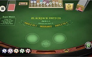 Blackjack Switch on Betfair mobile.