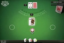 Blackjack by NetEnt in-game view