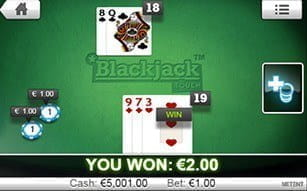 Blackjack Touch at LeoVegas casino.