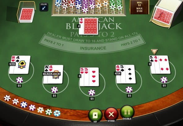The American Blackjack game by Playtech.
