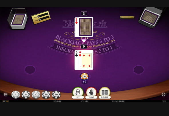 Blackjack Multi Hand VIP gameplay