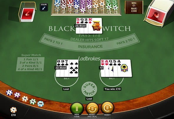 Play Blackjack Switch by Playtech for Free