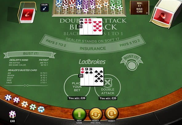 Play Double Attack Blackjack by Playtech for Free