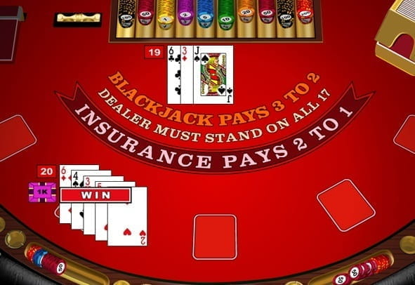 The European Blackjack game from Microgaming.